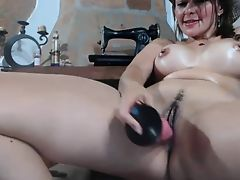 Webcam - Busty girl with swollen big tits toying pussy