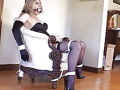 Bondage with sexy stockings and high heels (black 6inch pumps)